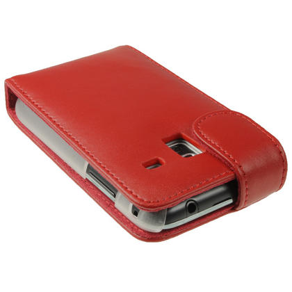 iGadgitz Red Leather Case Cover Holder for Samsung Galaxy Ace Plus + S7500 + Screen Protector Thumbnail 4