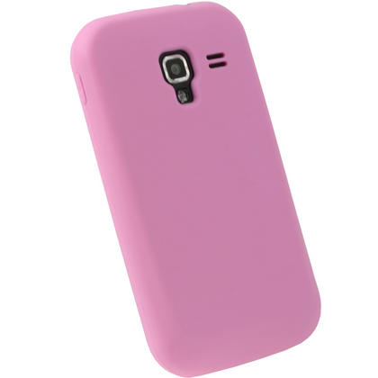 iGadgitz Pink Silicone Skin Case Cover for Samsung Galaxy Ace 2 I8160 Android Smartphone Mobile Phone + Screen Protector Thumbnail 3