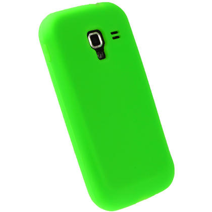iGadgitz Green Silicone Skin Case Cover for Samsung Galaxy Ace 2 I8160 + Screen Protector Thumbnail 3