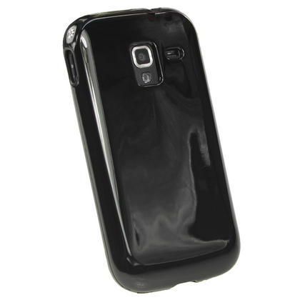 iGadgitz Black Glossy Gel Case for Samsung Galaxy Ace 2 I8160 + Screen Protector Thumbnail 3