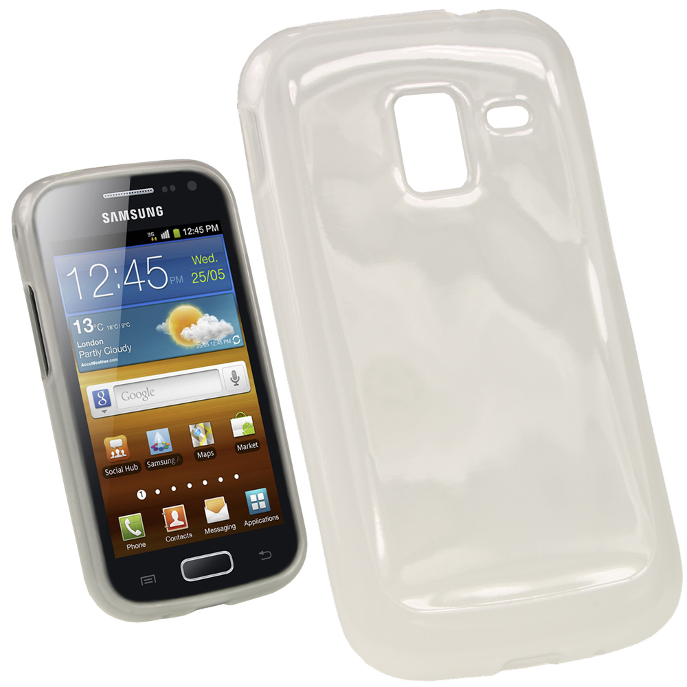 iGadgitz Clear Glossy Gel Case for Samsung Galaxy Ace 2 I8160 + Screen Protector