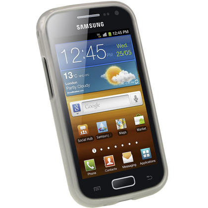 iGadgitz Clear Glossy Gel Case for Samsung Galaxy Ace 2 I8160 + Screen Protector Thumbnail 2
