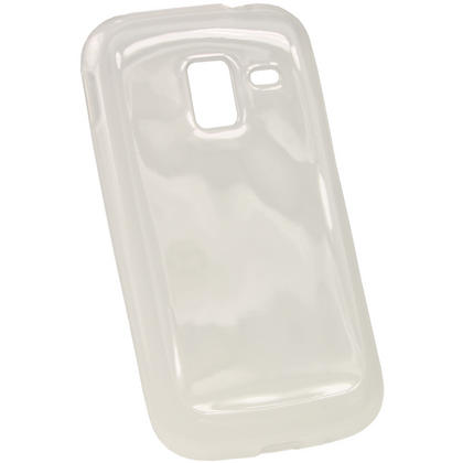 iGadgitz Clear Glossy Gel Case for Samsung Galaxy Ace 2 I8160 + Screen Protector Thumbnail 4