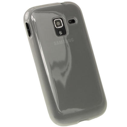 iGadgitz Clear Glossy Gel Case for Samsung Galaxy Ace 2 I8160 + Screen Protector Thumbnail 3