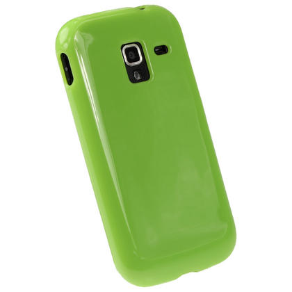 iGadgitz Green Glossy Gel Case for Samsung Galaxy Ace 2 I8160 + Screen Protector Thumbnail 3