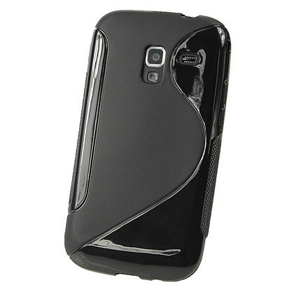 iGadgitz Dual Tone Black Gel Case for Samsung Galaxy Ace 2 I8160 + Screen Protector Thumbnail 3