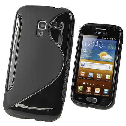 iGadgitz Dual Tone Black Gel Case for Samsung Galaxy Ace 2 I8160 + Screen Protector Thumbnail 1