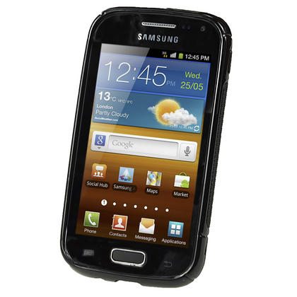 iGadgitz Dual Tone Black Gel Case for Samsung Galaxy Ace 2 I8160 + Screen Protector Thumbnail 2