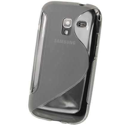 iGadgitz Dual Tone Clear Gel Case for Samsung Galaxy Ace 2 I8160 + Screen Protector Thumbnail 3