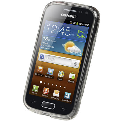 iGadgitz Dual Tone Clear Gel Case for Samsung Galaxy Ace 2 I8160 + Screen Protector Thumbnail 2
