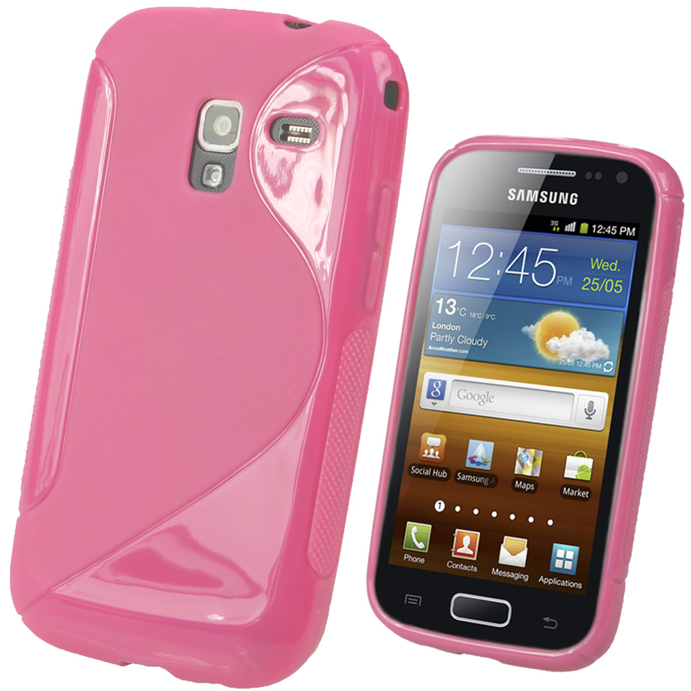 iGadgitz Dual Tone Pink Gel Case for Samsung Galaxy Ace 2 I8160 + Screen Protector