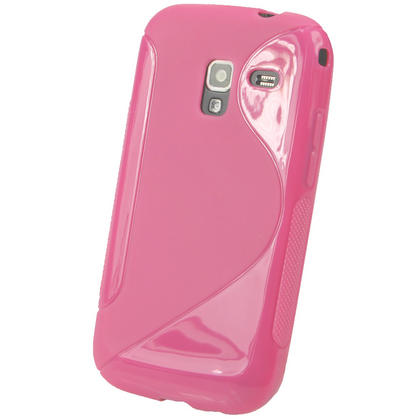 iGadgitz Dual Tone Pink Gel Case for Samsung Galaxy Ace 2 I8160 + Screen Protector Thumbnail 3