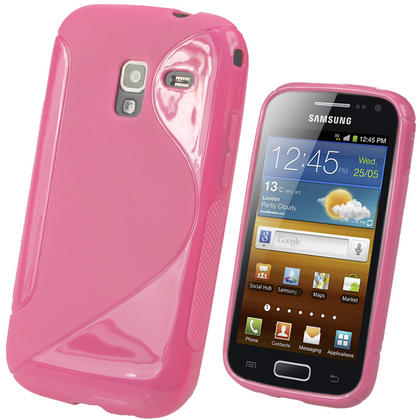 iGadgitz Dual Tone Pink Gel Case for Samsung Galaxy Ace 2 I8160 + Screen Protector Thumbnail 1