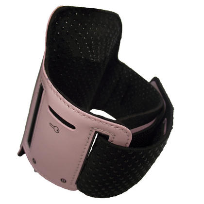 iGadgitz Pink Reflective Anti-Slip Neoprene Sports Gym Jogging Armband for HTC One S Android Smartphone Mobile Phone Thumbnail 2