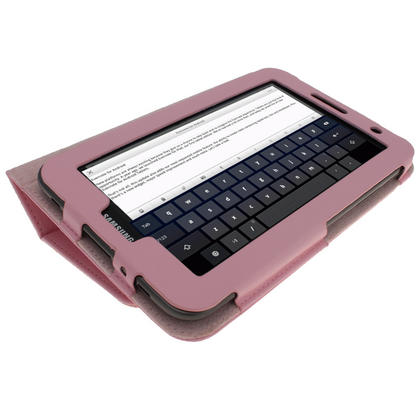 iGadgitz Pink 'Portfolio' PU Leather Case for Samsung Galaxy Tab 2 P3100 P3110 7.0 4.0 Tablet + Screen Protector Thumbnail 5