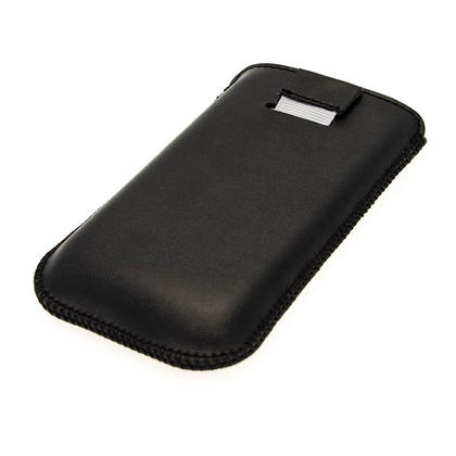 iGadgitz Black Leather Pouch Case Cover for Samsung Galaxy Ace 2 & 3 I8160 S7275 Android Smartphone Mobile Phone Thumbnail 3