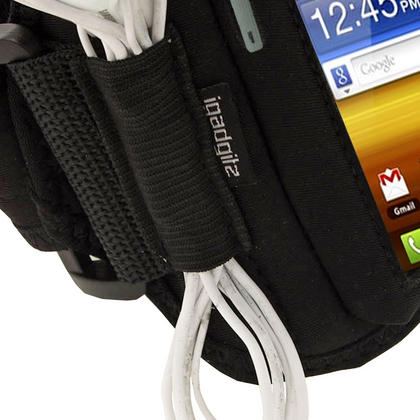 iGadgitz Black Water Resistant Neoprene Sports Armband for Samsung Galaxy Y S5360 Thumbnail 3