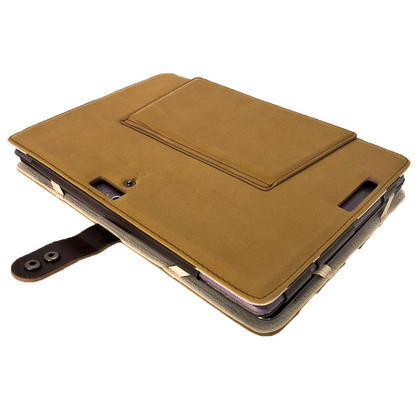 "iGadgitz Brown 'Guardian' Genuine Leather Case for Asus Transformer Pad & Keyboard Dock TF700 TF700T Infinity 10.1"" Tab Thumbnail 5"