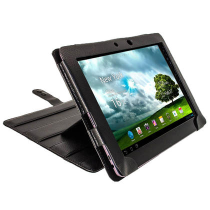 """iGadgitz Black 'Guardian' PU Leather Case for Asus Transformer Pad & Keyboard Dock TF700 TF700T Infinity 10.1"""" Tablet Thumbnail 8"""