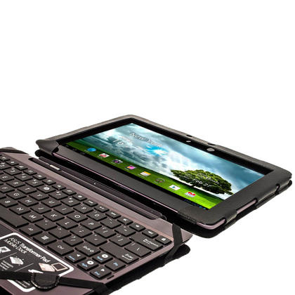 """iGadgitz Black 'Guardian' PU Leather Case for Asus Transformer Pad & Keyboard Dock TF700 TF700T Infinity 10.1"""" Tablet Thumbnail 6"""