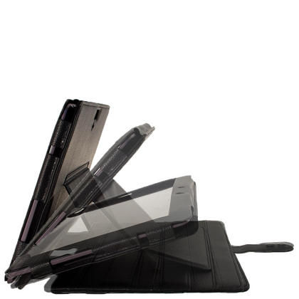 """iGadgitz Black 'Guardian' PU Leather Case for Asus Transformer Pad & Keyboard Dock TF700 TF700T Infinity 10.1"""" Tablet Thumbnail 3"""
