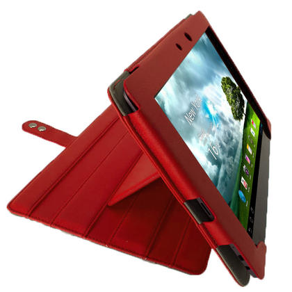 "iGadgitz Red 'Guardian' PU Leather Case for Asus Transformer Pad & Keyboard Dock TF700 TF700T Infinity 10.1"" Tablet Thumbnail 8"