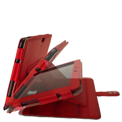 "iGadgitz Red 'Guardian' PU Leather Case for Asus Transformer Pad & Keyboard Dock TF700 TF700T Infinity 10.1"" Tablet Thumbnail 3"