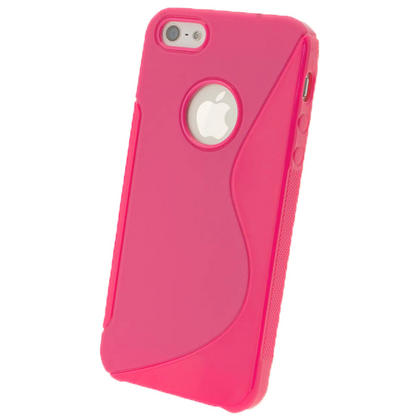 iGadgitz S-Line Pink Gel Case for Apple iPhone SE, 5S & 5 + Screen Protector (not suitable for 5C) Thumbnail 3