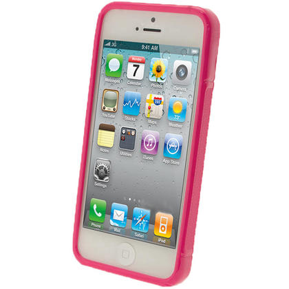 iGadgitz S-Line Pink Gel Case for Apple iPhone SE, 5S & 5 + Screen Protector (not suitable for 5C) Thumbnail 2