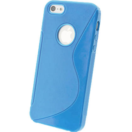 iGadgitz S-Line Blue Gel Case for Apple iPhone SE, 5S & 5 + Screen Protector (not suitable for 5C) Thumbnail 3