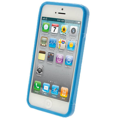 iGadgitz S-Line Blue Gel Case for Apple iPhone SE, 5S & 5 + Screen Protector (not suitable for 5C) Thumbnail 2
