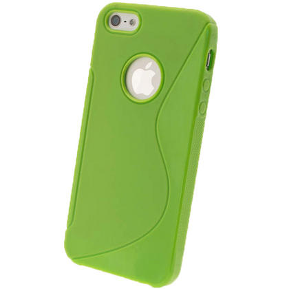 iGadgitz Dual Tone Green Gel Case for Apple iPhone SE, 5S & 5 + Screen Protector (not suitable for 5C) Thumbnail 3