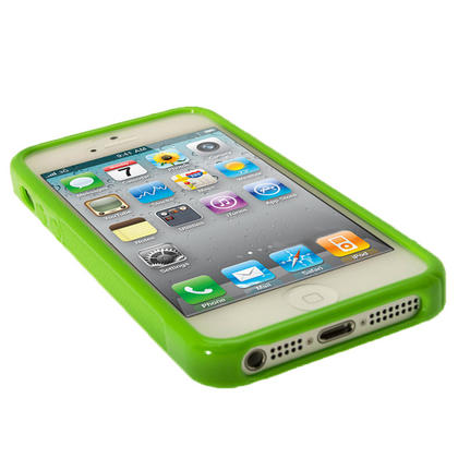 iGadgitz Dual Tone Green Gel Case for Apple iPhone SE, 5S & 5 + Screen Protector (not suitable for 5C) Thumbnail 4