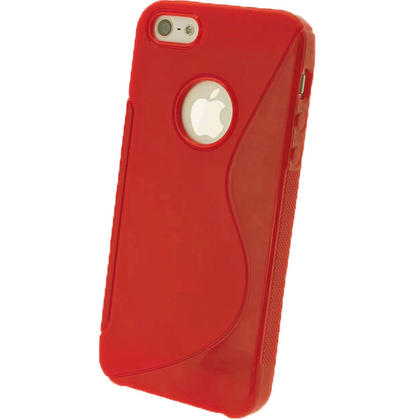 iGadgitz Dual Tone Red Gel Case for Apple iPhone SE, 5S & 5 + Screen Protector (not suitable for 5C) Thumbnail 3