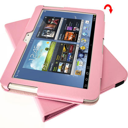 iGadgitz Pink 360° Rotating Detachable PU Leather Case for Samsung Galaxy Note 10.1 N8000 Tablet + Screen Protector Thumbnail 8