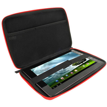 iGadgitz Red EVA Hard Case for Asus Transformer Book T100 / TF100T / TF101 / T100CHI Thumbnail 2