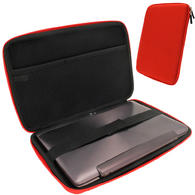 "iGadgitz Italian Racing Red EVA Travel Hard Case for Various Asus 10.1"" Tablets (Transformer Pad/Infinity/Book/Memo Pad)"