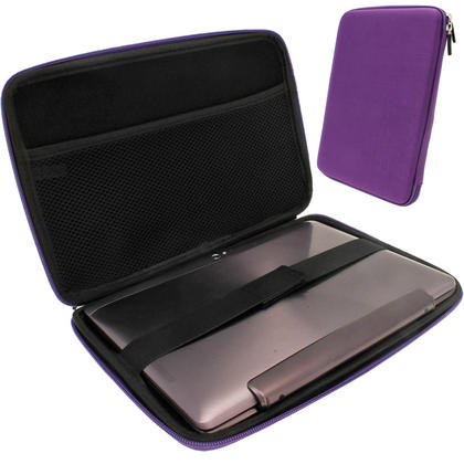 "iGadgitz Purple EVA Travel Hard Case for Various Asus 10.1"" Tablets (Transformer Pad/Infinity/Book/Memo Pad & Vivo Tab) Thumbnail 1"