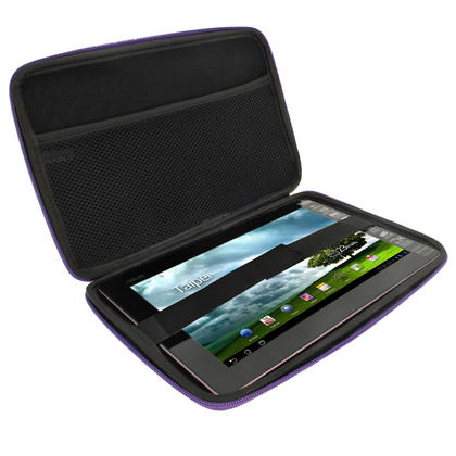 "iGadgitz Purple EVA Travel Hard Case for Various Asus 10.1"" Tablets (Transformer Pad/Infinity/Book/Memo Pad & Vivo Tab) Thumbnail 2"