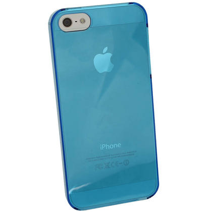 iGadgitz Blue Tinted PC Hard Case Cover for Apple iPhone SE, 5S & 5 + Screen Protector (Not suitable for iPhone 5C) Thumbnail 4