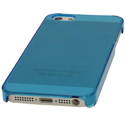 iGadgitz Blue Tinted PC Hard Case Cover for Apple iPhone SE, 5S & 5 + Screen Protector (Not suitable for iPhone 5C) Thumbnail 2