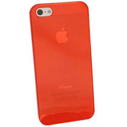 iGadgitz Red Tinted PC Hard Case Cover for Apple iPhone SE, 5S & 5 + Screen Protector (Not suitable for iPhone 5C) Thumbnail 3
