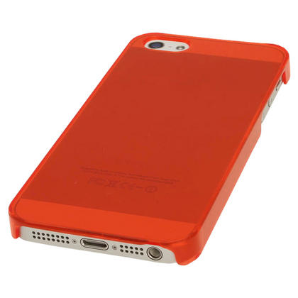 iGadgitz Red Tinted PC Hard Case Cover for Apple iPhone SE, 5S & 5 + Screen Protector (Not suitable for iPhone 5C) Thumbnail 4