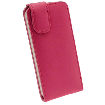 iGadgitz Pink Leather Case Cover Holder for Apple iPhone SE, 5S & 5 + Screen Protector (Not suitable for iPhone 5C) Thumbnail 3