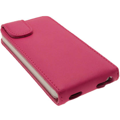 iGadgitz Pink Leather Case Cover Holder for Apple iPhone SE, 5S & 5 + Screen Protector (Not suitable for iPhone 5C) Thumbnail 4