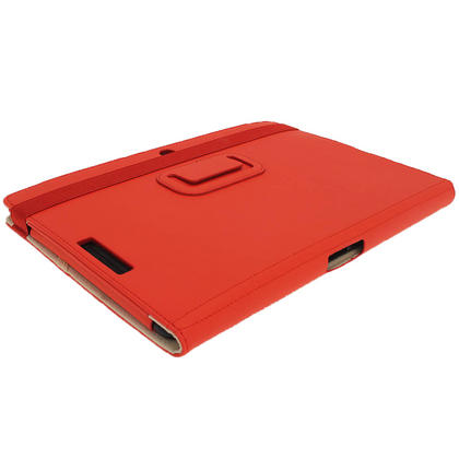 "iGadgitz Red 'Portfolio' PU Leather Case Cover for Asus Eee Pad Transformer & Keyboard Dock TF300 TF300T 10.1"" Tablet Thumbnail 8"