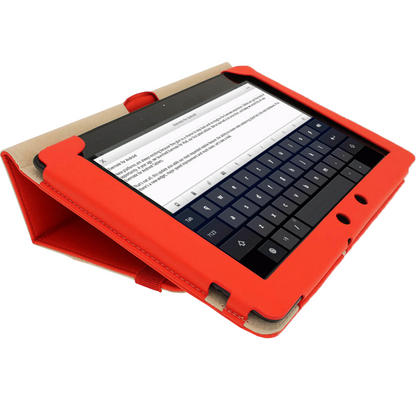 "iGadgitz Red 'Portfolio' PU Leather Case Cover for Asus Eee Pad Transformer & Keyboard Dock TF300 TF300T 10.1"" Tablet Thumbnail 5"
