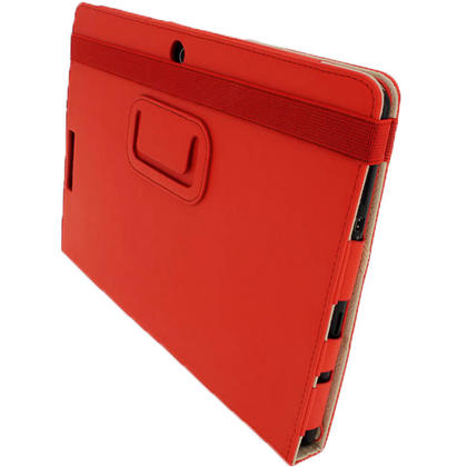"iGadgitz Red 'Portfolio' PU Leather Case Cover for Asus Eee Pad Transformer & Keyboard Dock TF300 TF300T 10.1"" Tablet Thumbnail 6"