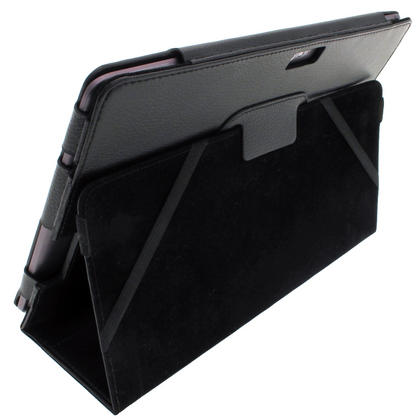 "iGadgitz Black 'Portfolio' PU Leather Case for Asus Transformer Pad & Keyboard Dock TF700 TF700T Infinity 10.1"" Tablet Thumbnail 2"