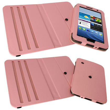 iGadgitz Pink 360° Rotating Detachable PU Leather Case for Samsung Galaxy Tab 2 P3100 P3110 7.0 4.0 + Screen Protector Thumbnail 4